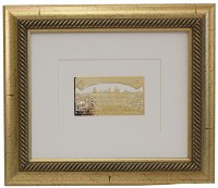 "Golden Framed Gold Art Im Eshkachech Jerusalem Kosel Design 12"" x 14"""