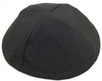 Black Terylene Yarmulka 4 Part Size 1