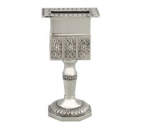 Havdallah Candle Holder Octagon Base Nickel Plated