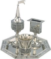 Havdallah Set 4 Piece Nickel Plated #40005