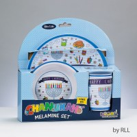Chanukah Melamine Children's 3-piece Dinner Set