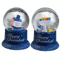 Mini Water Globe Assorted Chanukah Designs