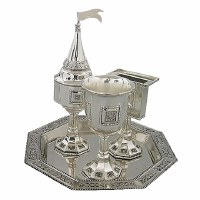Havdallah Set 4 Piece Nickel Plated #41125