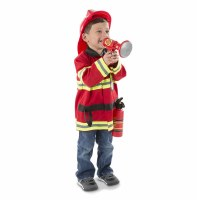 Fire Chief Role Play Purim Costume Set for Ages 3-6