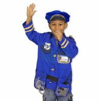 Police Officer Role Play Purim Costume Set for Ages 3-6