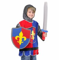 Knight Role Play Purim Costume Set for Ages 3-6