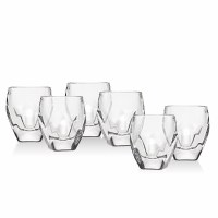 Stockholm Shot Glasses Set of 6 Square Base Design 1.5oz Cups