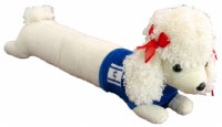 Long Poodle with Israeli Flag on Blue Sweater