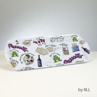 Rectangle Melamine Tray Passover Potpourri Design