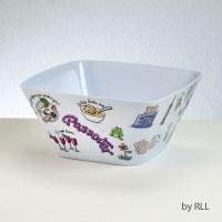 Square Melamine Bowl Passover Potpourri Design