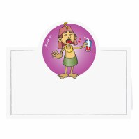 Pesach Makkos Themed Placecards Pack of 12
