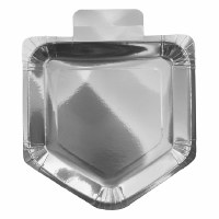Dreidel Shaped Silver Paper Plate 10 pack