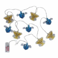 Chanukah Character Menorah and Dreidel String Lights