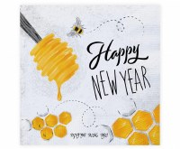 Happy New Year Napkins Honey Theme 20 Count