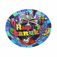 "7"" Paper Bowls Chanukah Theme 10 Pack"