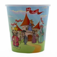 Purim Plastic Bucket with Lid Castle Design