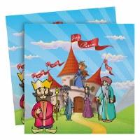 Purim Paper Napkins Castle Design 20 Count