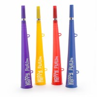 Purim Vuvuzela Plastic Party Blower 1 Count Assorted Colors