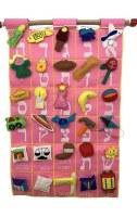 "Alef Bais Wall Hanging Felt Pink 14.75"" x 24"""