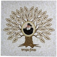 Canvas Hebrew Birkas HaBayis with Picture of the Lubavitcher Rebbe HaIlan HaKadosh 12.5 inches