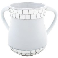 Pearl Enamel Washing Cup with Mirror Tiles