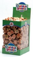 Box of 25 Large Natural Wood Dreidels