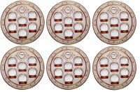Cardboard Seder Plate Large Copper and Rose Gold Colors - 6 Pack