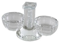 Salt and Pepper Dish Crystal with Crushed Glass