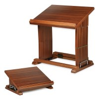 Shtender Mahogany Wood Sit Or Stand Foldable Book Stand