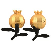 Aluminum Salt and Pepper Shakers Pomegranate Shape