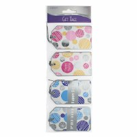 Foiled Mishloach Manos Gift Tags Large Size 12 Count