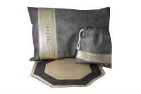 Leather Seder Set 3 Piece Grey