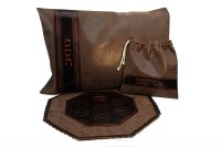 Leather Seder Set 3 Piece Brown