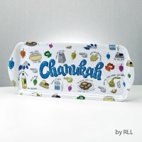 Melamine Rectangular Tray Chanukah Musings Design 15""
