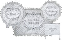 Seder Set White Fancy Design #62816