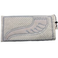 Shofar Bag White with Silver Embroidery