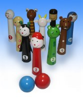 Bowling Pins 10 Piece Set Passover Plague Design