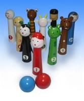 Bowling Pins 10 Piece Set Passover Plague Design
