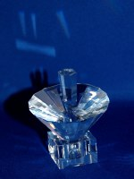 Crystal Dreidel Umbrella Design with Stand Clear