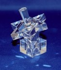 Crystal Dreidel Star of David Design with Stand Clear