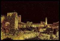 Tower of David Scratch Art