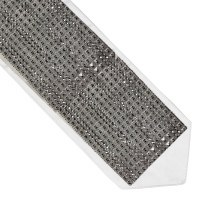 Atarah Small Silver Color Square Rhinestones 5.5""