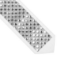 "Atara Silver Colored Swarovski Squares Design 4.5"""