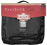 Tallis Tote Deluxe Leather Look Rain Proof Clear Front Medium