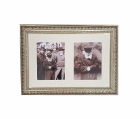 Framed Double Picture of the Chofetz Chaim in Gold Frame