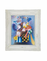 Framed Modeh Ani Colorful Picture on Canvas