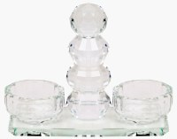 Crystal Salt and Pepper Holder Dish