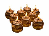 Prefilled 100% Olive Oil Glass Cup Candles with Cotton Wick