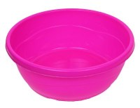 Mini Plastic Wash Bowl for Kids Pink