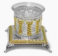 Silver Plated Salt Holder Royal Palace Design Gold